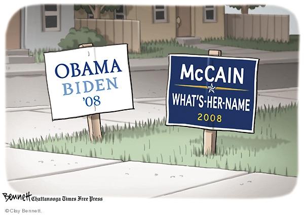 Clay Bennett  Clay Bennett's Editorial Cartoons 2008-09-03 name