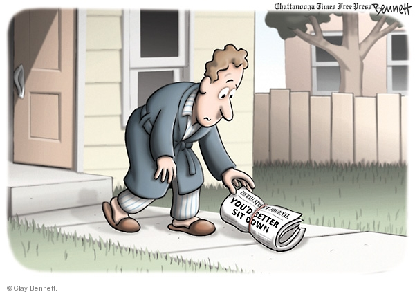 Clay Bennett  Clay Bennett's Editorial Cartoons 2008-09-16 stock market