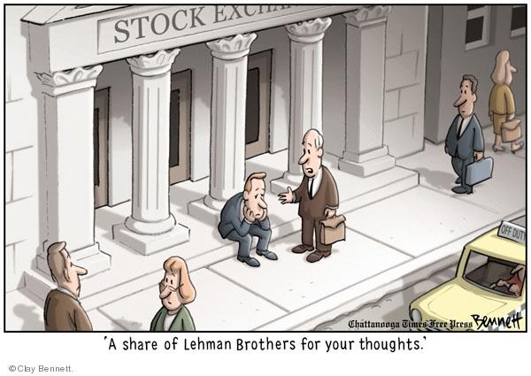 Clay Bennett  Clay Bennett's Editorial Cartoons 2008-09-17 stock market