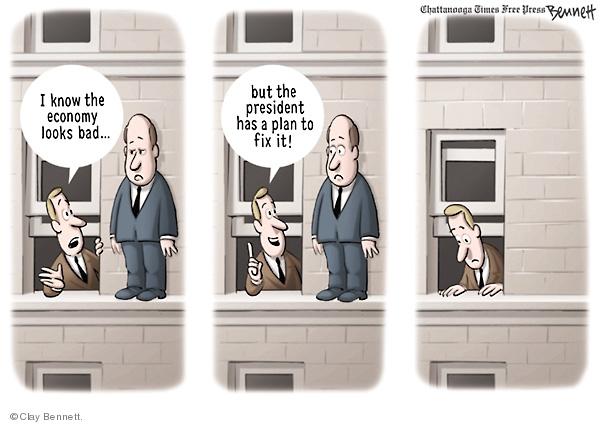 Clay Bennett  Clay Bennett's Editorial Cartoons 2008-09-25 stock market