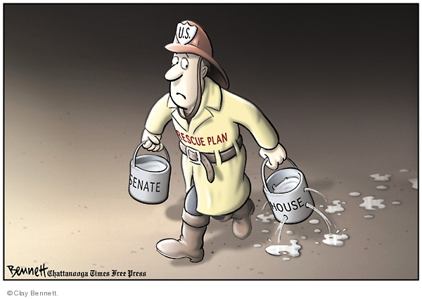 Cartoonist Clay Bennett  Clay Bennett's Editorial Cartoons 2008-10-02 recession