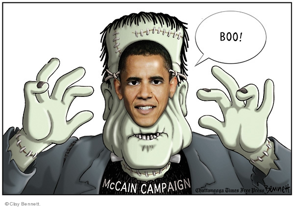 Cartoonist Clay Bennett  Clay Bennett's Editorial Cartoons 2008-10-15 face