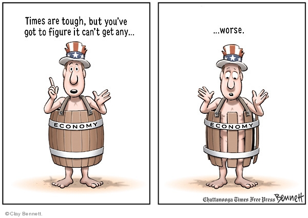 Clay Bennett  Clay Bennett's Editorial Cartoons 2008-10-25 loss