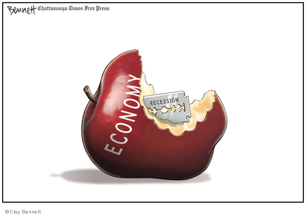 Cartoonist Clay Bennett  Clay Bennett's Editorial Cartoons 2008-11-01 recession
