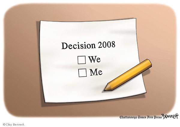 Clay Bennett  Clay Bennett's Editorial Cartoons 2008-11-04 2008