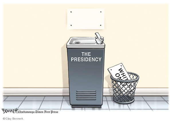 Cartoonist Clay Bennett  Clay Bennett's Editorial Cartoons 2008-11-05 black and white