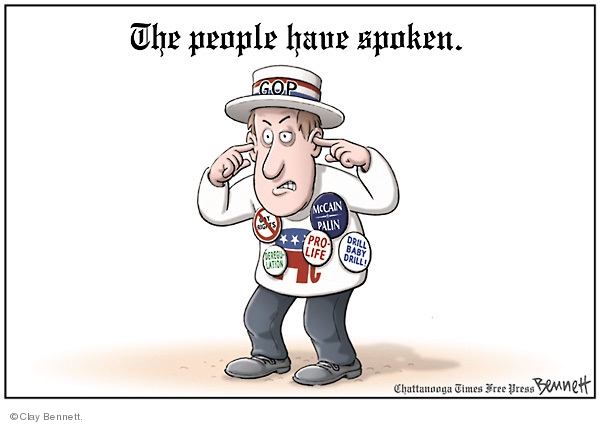 Clay Bennett  Clay Bennett's Editorial Cartoons 2008-11-06 voting rights