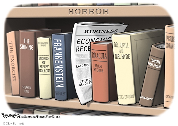Cartoonist Clay Bennett  Clay Bennett's Editorial Cartoons 2008-11-19 recession