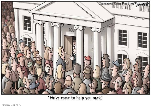 Clay Bennett  Clay Bennett's Editorial Cartoons 2008-12-03 1600 Pennsylvania Avenue