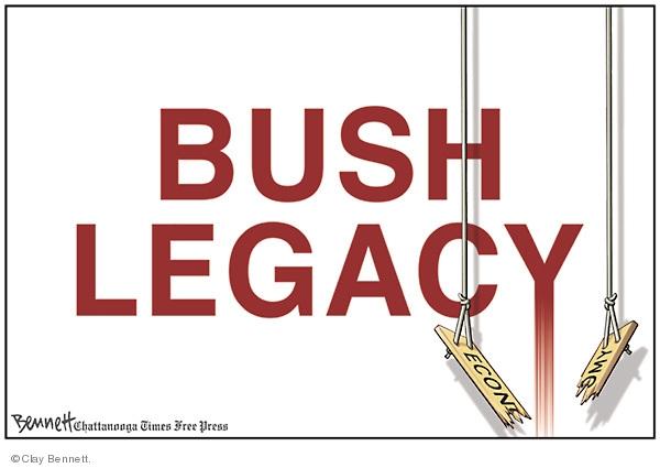 Cartoonist Clay Bennett  Clay Bennett's Editorial Cartoons 2008-12-06 recession