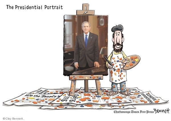 Cartoonist Clay Bennett  Clay Bennett's Editorial Cartoons 2008-12-10 Constitution