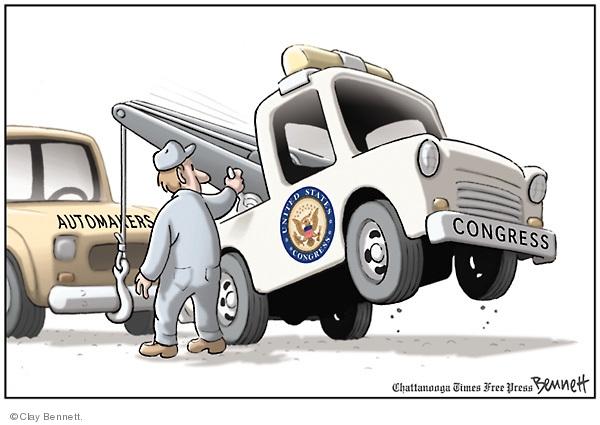 Cartoonist Clay Bennett  Clay Bennett's Editorial Cartoons 2008-12-14 recession