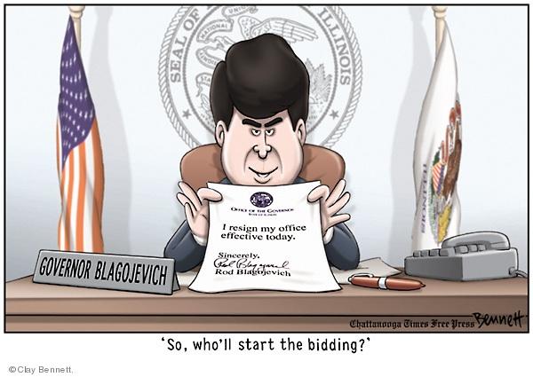 Clay Bennett  Clay Bennett's Editorial Cartoons 2008-12-13 corruption