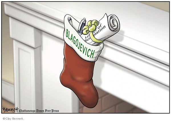 Cartoonist Clay Bennett  Clay Bennett's Editorial Cartoons 2008-12-17 pay-to-play