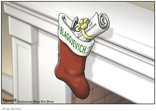 Clay Bennett  Clay Bennett's Editorial Cartoons 2008-12-17 corruption
