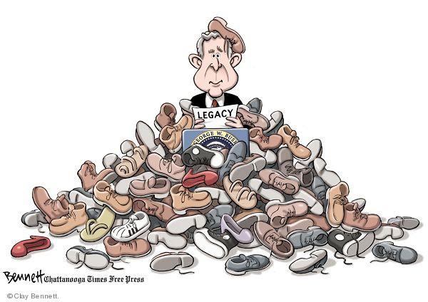 Cartoonist Clay Bennett  Clay Bennett's Editorial Cartoons 2008-12-18 shoe