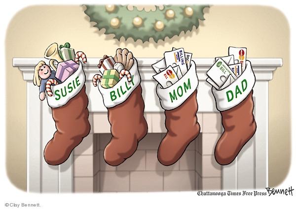 Clay Bennett  Clay Bennett's Editorial Cartoons 2008-12-25 parent