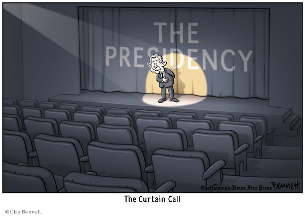 Cartoonist Clay Bennett  Clay Bennett's Editorial Cartoons 2009-01-17 Bush term
