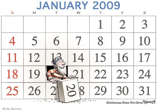 Clay Bennett  Clay Bennett's Editorial Cartoons 2009-01-20 2008