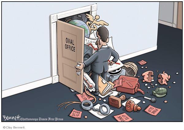 Cartoonist Clay Bennett  Clay Bennett's Editorial Cartoons 2009-01-22 oval