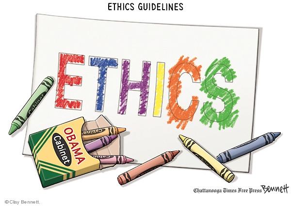 Ethics Guidelines. Ethics. Obama Cabinet.