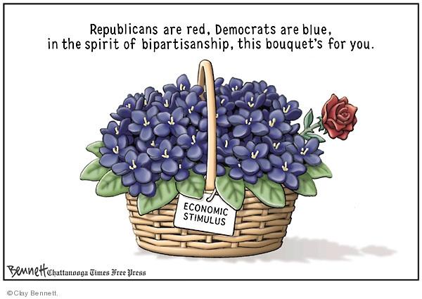 Cartoonist Clay Bennett  Clay Bennett's Editorial Cartoons 2009-02-15 recession