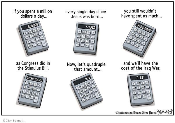 Cartoonist Clay Bennett  Clay Bennett's Editorial Cartoons 2009-02-21 recession