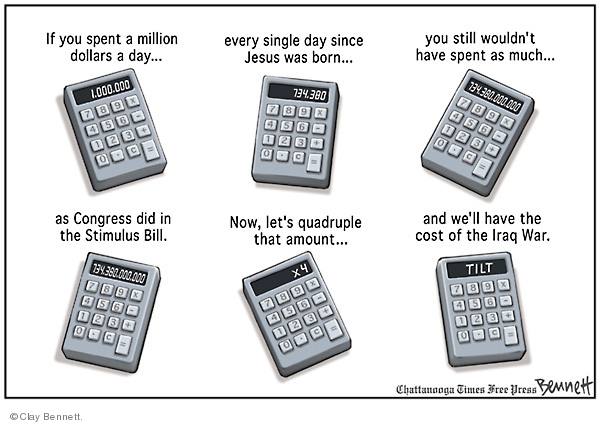 Clay Bennett  Clay Bennett's Editorial Cartoons 2009-02-21 cost