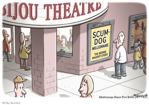 Cartoonist Clay Bennett  Clay Bennett's Editorial Cartoons 2009-02-22 political scandal
