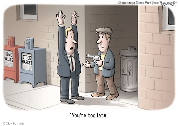 Clay Bennett  Clay Bennett's Editorial Cartoons 2009-03-04 stock market