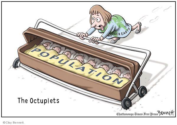 Clay Bennett  Clay Bennett's Editorial Cartoons 2009-03-07 population