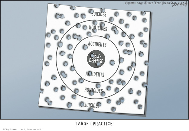 Cartoonist Clay Bennett  Clay Bennett's Editorial Cartoons 2009-03-24 bullet hole