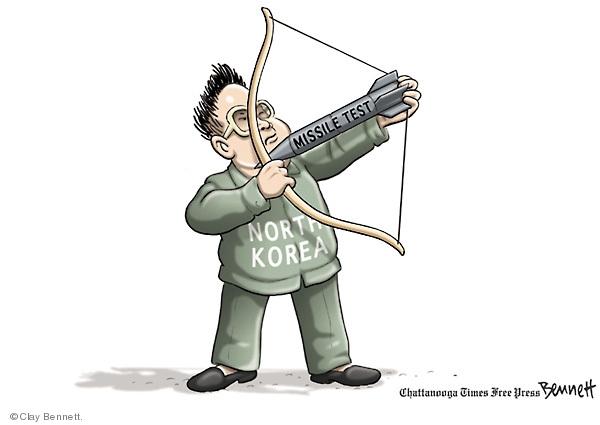 Cartoonist Clay Bennett  Clay Bennett's Editorial Cartoons 2009-04-07 Korea