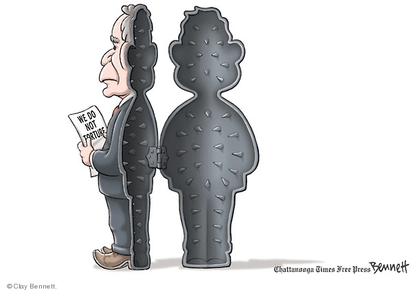 Cartoonist Clay Bennett  Clay Bennett's Editorial Cartoons 2009-04-26 George W. Bush