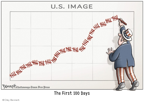 Clay Bennett  Clay Bennett's Editorial Cartoons 2009-04-29 first president