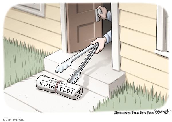 Clay Bennett  Clay Bennett's Editorial Cartoons 2009-05-03 swine flu