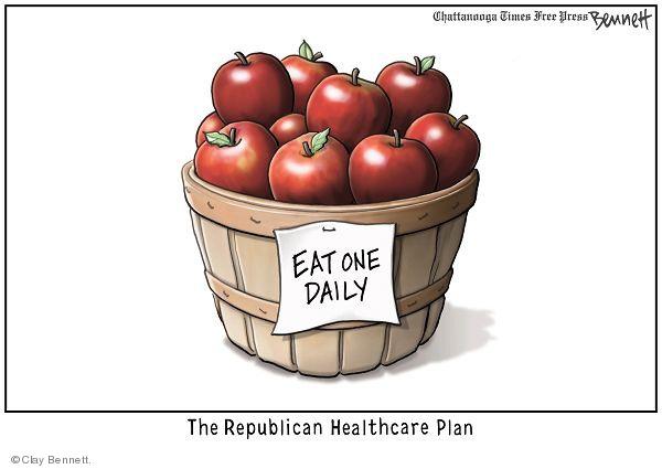 Cartoonist Clay Bennett  Clay Bennett's Editorial Cartoons 2009-05-14 apple