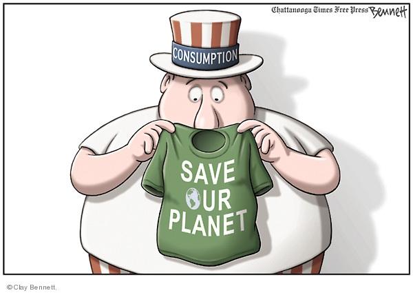Cartoonist Clay Bennett  Clay Bennett's Editorial Cartoons 2009-05-21 consumer