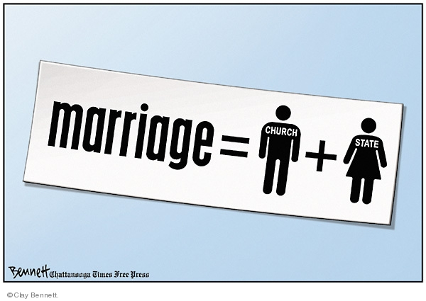 Cartoonist Clay Bennett  Clay Bennett's Editorial Cartoons 2009-05-27 separation