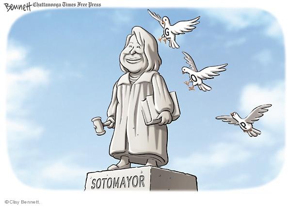 Clay Bennett  Clay Bennett's Editorial Cartoons 2009-05-31 Supreme Court