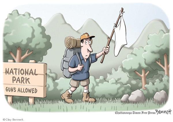 Cartoonist Clay Bennett  Clay Bennett's Editorial Cartoons 2009-06-10 second amendment