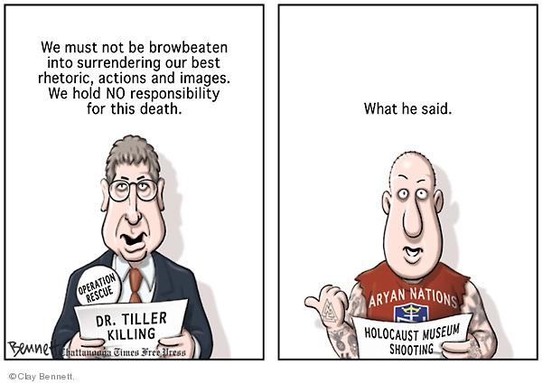 Clay Bennett  Clay Bennett's Editorial Cartoons 2009-06-14 bigotry