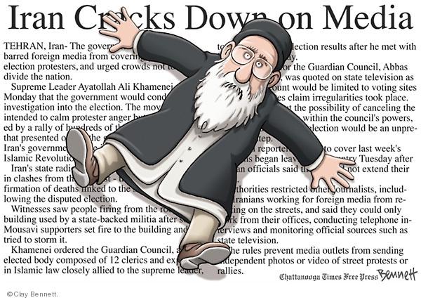 Clay Bennett  Clay Bennett's Editorial Cartoons 2009-06-17 mideast