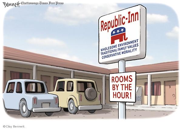 Cartoonist Clay Bennett  Clay Bennett's Editorial Cartoons 2009-06-28 political scandal