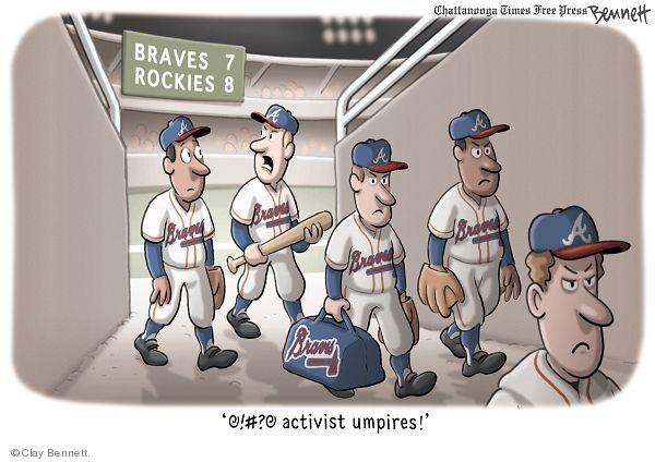 Braves 7 Rockies 8. A. @!#?@ activist umpires!