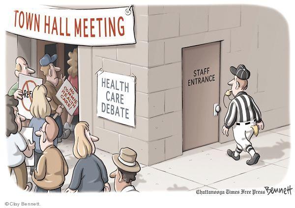 Cartoonist Clay Bennett  Clay Bennett's Editorial Cartoons 2009-08-13 editorial staff