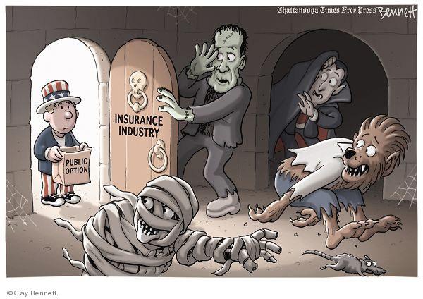 Cartoonist Clay Bennett  Clay Bennett's Editorial Cartoons 2009-10-17 lobbyist