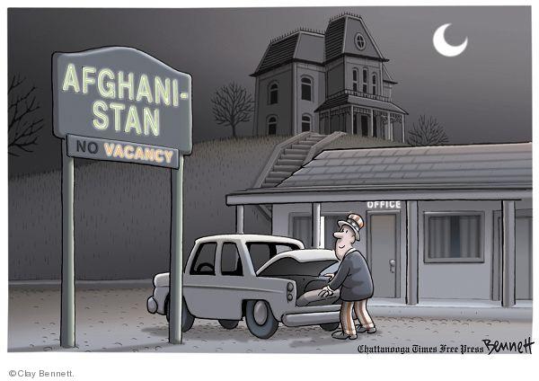 Cartoonist Clay Bennett  Clay Bennett's Editorial Cartoons 2009-11-01 vacancy