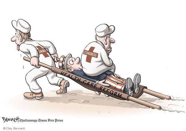 Cartoonist Clay Bennett  Clay Bennett's Editorial Cartoons 2009-11-24 congress health care