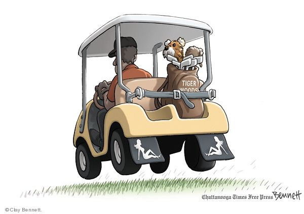 Clay Bennett S Editorial Cartoons Golf Cart Comics And Cartoons The Cartoonist Group